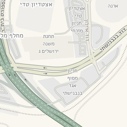 בלתי רגיל Waze Livemap - מסלול נסיעה אל חניון הגן הטכנולוגי - מלחה, ירושלים RQ-19